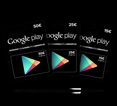Carte Google Play Store