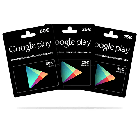 Carte Google Play Store